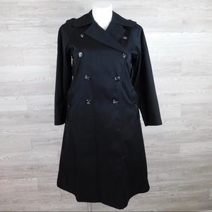 Fox Run 2 Black Double Breasted Trench Coat